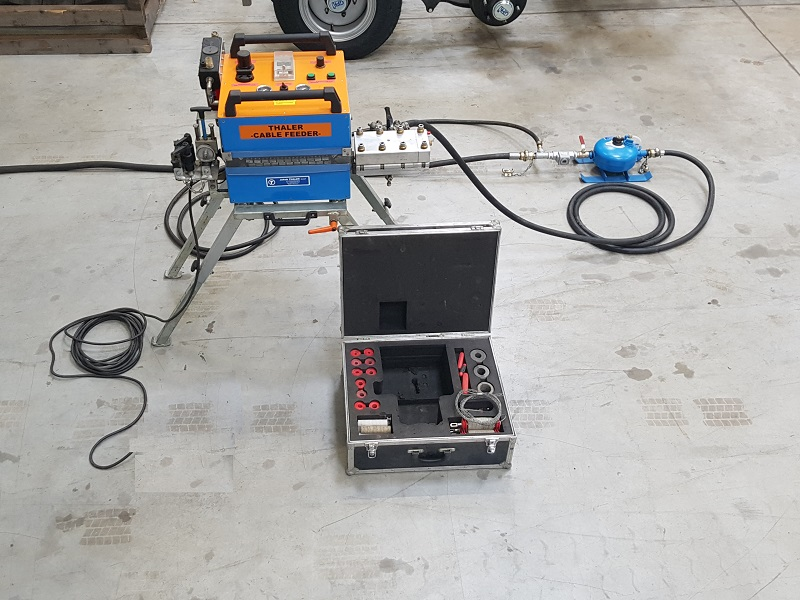 Used Cable blowing-in system