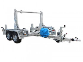 TTA 2091 B with straight drawbar with lifting and lowering of cable drum by engine